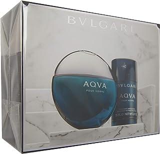 Bvlgari Aqva Pour Homme Eau de Toilette with Deodorant Sans Alcohol Stick, Pack of 2