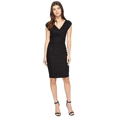Nicole Miller Linen Beckett Dress (Black) Women