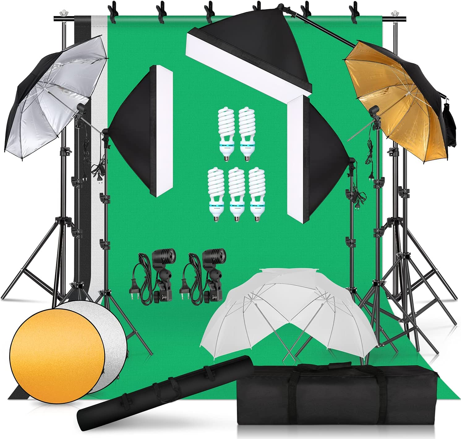Photographic Umbrella Milwaukee Mall Soft Box Omaha Mall Background Kit Lighting 8.5x10ft