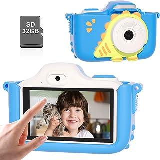 """Kriogor Caméra numérique pour enfant avec écran tactile de 3,0"""" - Pour enfant - 1080P - Selfie - Carte TF 32G - Cadeau d'a..."""