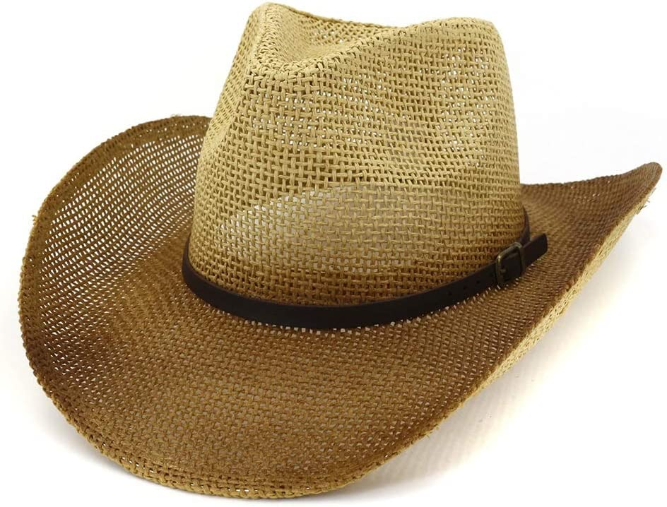 LIRRUI Women Men Western Super intense SALE Straw Cowboy Fashion Sun Hat La Arlington Mall