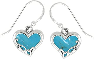 Best heart shaped turquoise earrings Reviews