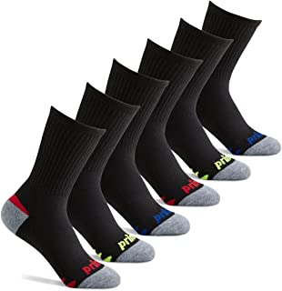 Boys' Crew Length Athletic Socks with Cushion for Active...