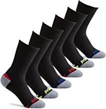 Prince Boys' Crew Length Athletic Socks with Cushion for Active Kids