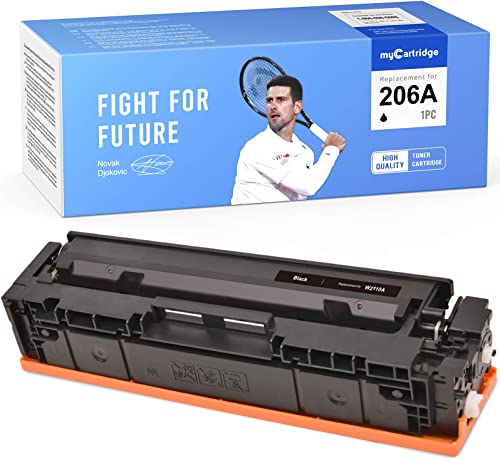 wholesale MYCARTRIDGE outlet sale (NO CHIP) Compatible Toner Cartridge Replacement for HP 206A W2110A to use with popular Color Laserjet Pro M255dw MFP M283fdw M282nw 283cdw (Black, 1-Pack) outlet online sale