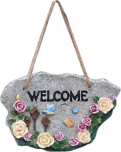 discount Spring Welcome Sign Garden Outdoor Resin Decoration for Lawn Patio Floral Resin Welcome Sign for Garden Decoration -Welcome to My Garden Hanging outlet sale Rustic Signs Herb 2021 Plants Welcome Sign, 6x3 outlet online sale