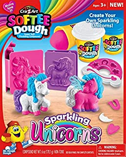 Cra-Z-Art Softee Dough Sparkling Unicorns