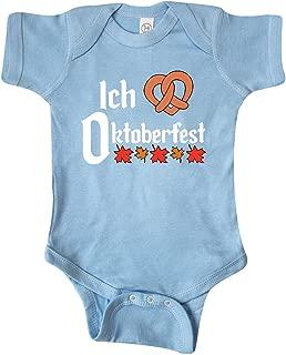 inktastic Ich Liebe - I Love Oktoberfest Pretzel Heart Infant Creeper