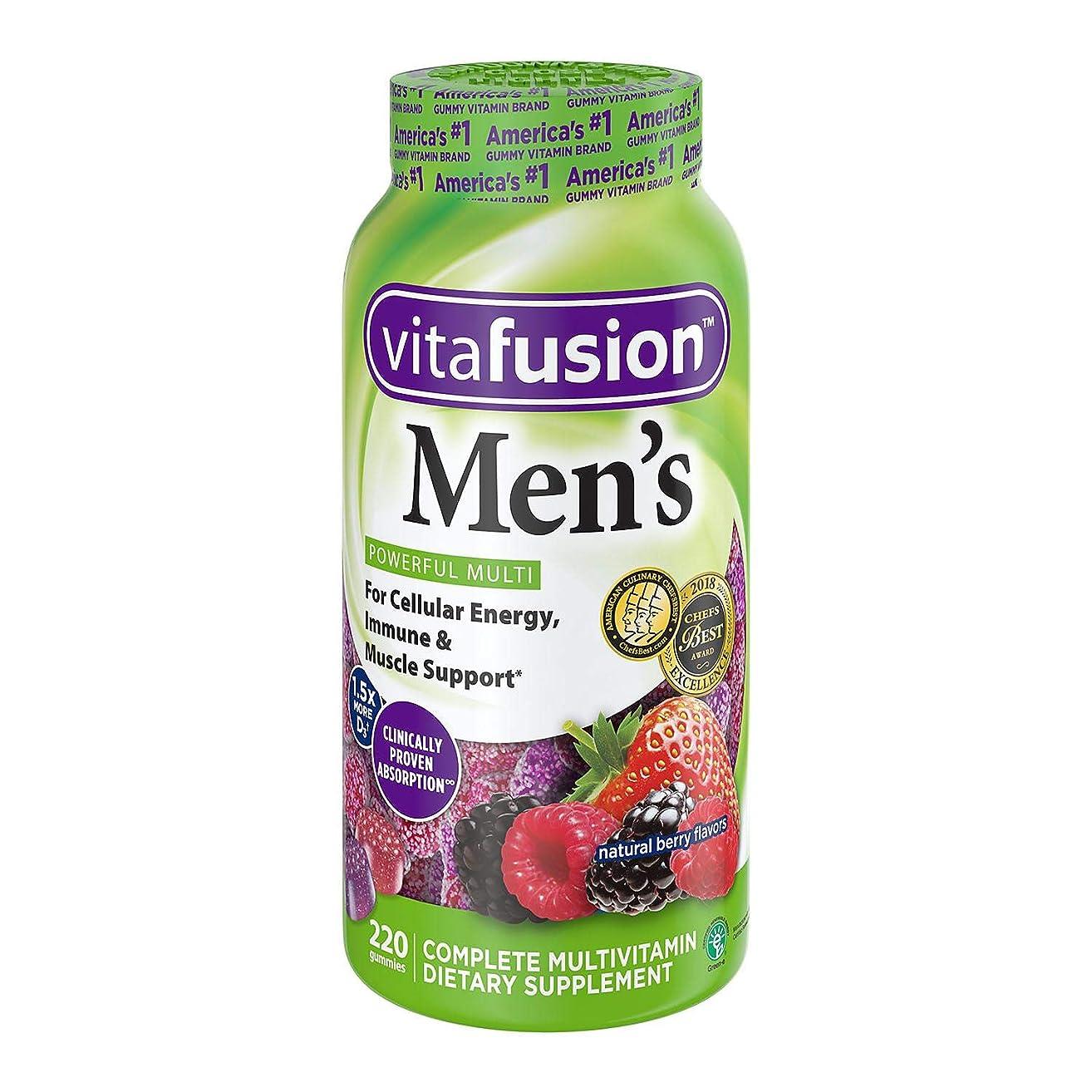 Vitafusion Men's Complete Multivitamin Gummies Natural Berry Flavors - 150 ct, Pack of 2