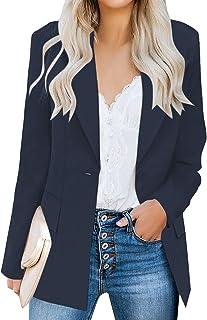 Sponsored Ad - luvamia Women's Casual Long Sleeve Lapel Button Slim Work Office Blazer Jacket