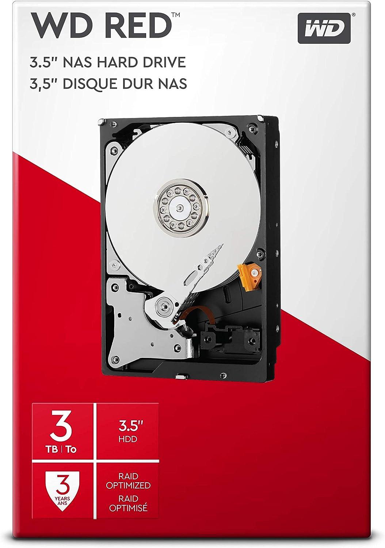 CMR WD Red Plus 10/To NAS 3,5 Disque dur interne SATA 6/Gb//s 256/Mo en cache Classe 5400 RPM