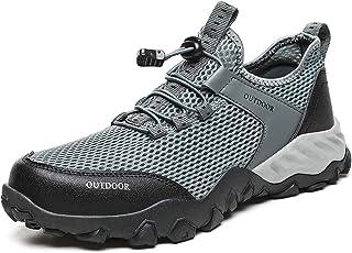 MissMeSweeteen أحذية رياضية للرجال المشي في الهواء الطلق أحذية مائية واقية سريعة الجفاف بير فوت أحذية برمائية