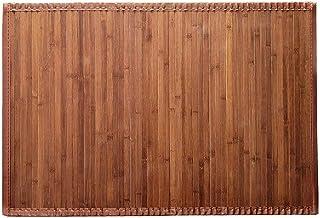 Solagua 8 Modelos 4 Medidas de Alfombra Bambu Antideslizante/Alfombra de Madera Salon, baño, Cocina y Multiusos (150 x 200 cm, Marrón)