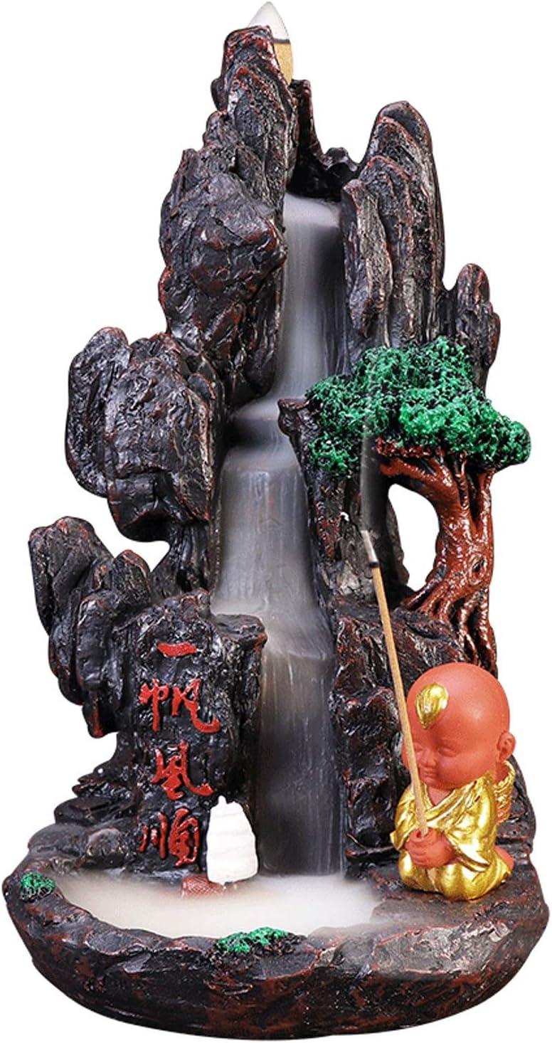 SHIJIE1701AA Incense Burner Waterfall Monk Backflow Incense Burn