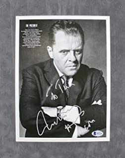Anthony Hopkins Westworld Authentic Autographed Signed Matted 8x10 Magazine Page Bas #E85314 - Certified Authentic