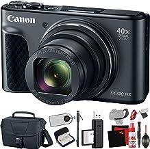 Canon PowerShot SX730 HS Digital Camera (Black) (International Model) with Extra Accessory Bundle