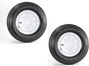 eCustomRim 2-Pack Trailer Tire On Rim ST175/80D13 175/80 D 13 in. LRC 5 Hole White Spoke