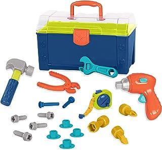 Battat BT2506Z Busy Builder Tool Box Durable Kids Tool Set Pretend Play Construction Tool Kit for Kids 3 years+ (20-Pcs), ...