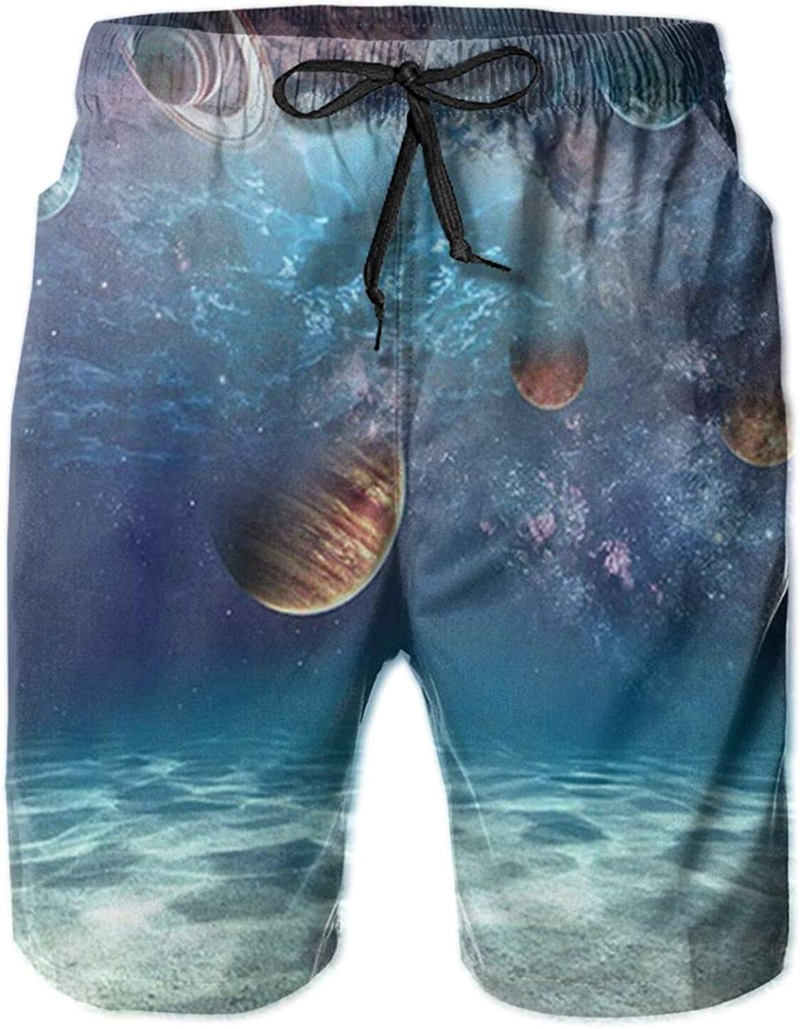Space Complete Free Shipping Ocean Cosmic Planet Men's Quick Shorts Selling Board Beach Sum Dry