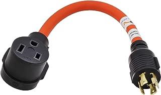 AC Connectors L1430650-AM 1.5FT Welder Adapter Generator L14-30 Plug(4 Prong 30Amp) to NEMA 6-50R 50 Amp 250-volt Adapter Cord-Limited Five Year Warranty