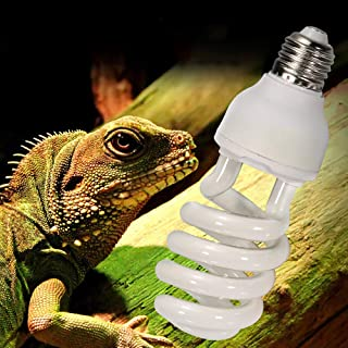 Reptile UVB Bulb 5.0/10.0, High UVB Output Compact Fluorescent Bulb for Amphibian Tortoise Lizard Succulent Plants Improve...
