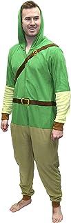 Super Mario Men's Faux Fur Licensed Sleepwear Adult Costume Union Suit Pajama