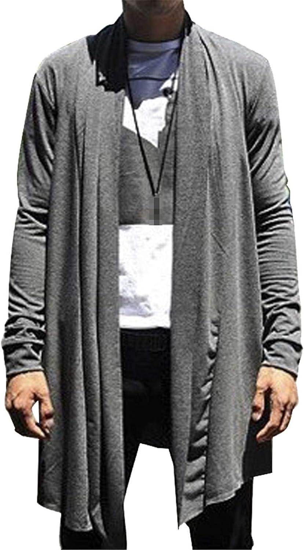 Mens Long Cardigan Mantle Knitted Sweaters Warm Knitting Sweater Men Slim Cardigans Knit Shirt