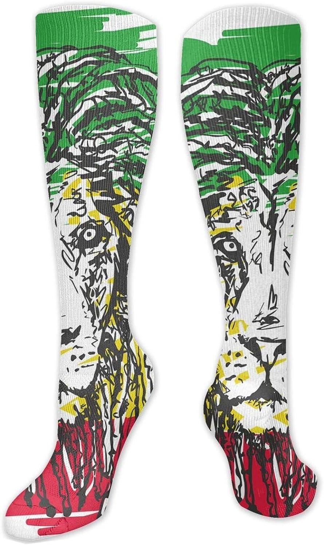 Compression High Socks-Abstract Space Mandala Digital Fantasy Energy Futuristic Spiritual Art Best for Running,Athletic,Hiking,Travel,Flight