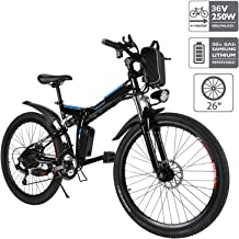 Aceshin 26'' Electric Mountain Bike with Removable Large Capacity Lithium-Ion Battery (36V 250W), Electric Bike 21 Speed Gear and Three Working Modes