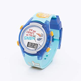 Disney Olaf Girls Digital Dial Display Flashing LED Wristwatch - SA7175 Frozen-A