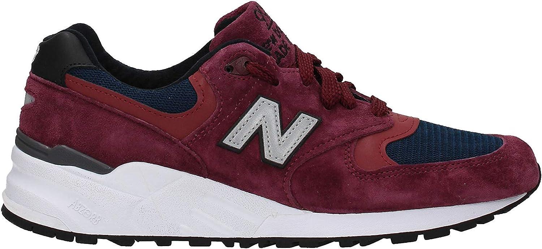 New Balance 999 Made in the USA Burgundy och vit vit vit Trainers  online-återförsäljare