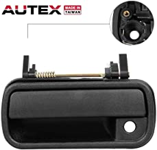 AUTEX Door Handle Black Exterior Front Left Compatible with Toyota 4Runner 89-97 Door Handle Replacement for Toyota Pickup 1989-1995 Door Handle Driver Side 83954 LH