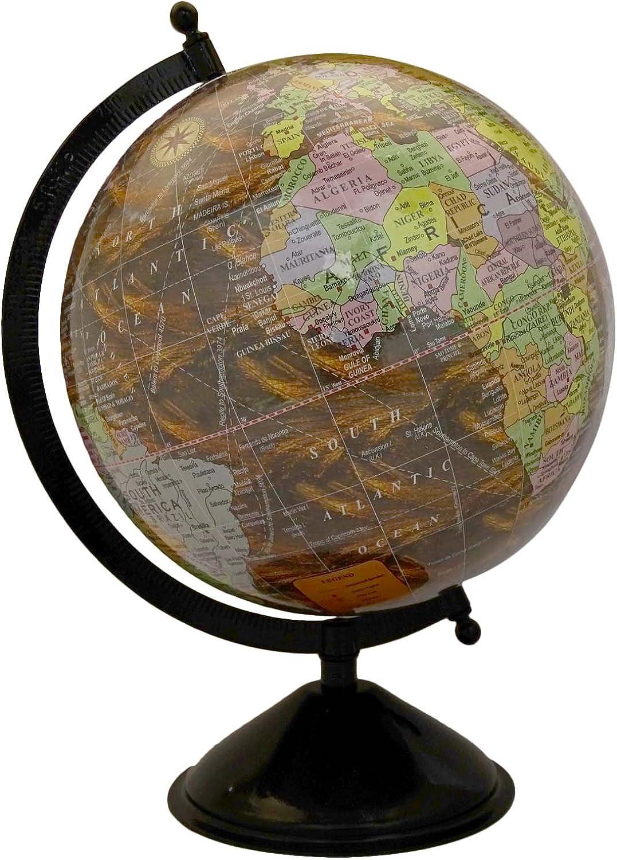 redating Desktop Globe World Earth Ocean Geography Table Décor Globes 12.5