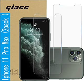 (2 Pack ) Amuoc Tempered Glass Film for Apple iPhone 11 Pro MAX Screen Protector and iPhone Xs MAX Screen Protector ,Anti Scratch, Bubble Free