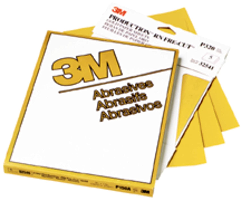 3M 02537 Production Gold 9 x 11 P600A Grit Resinite Sheet