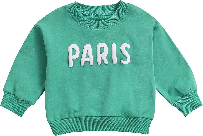 Animer and price revision VISGOGO Toddler Baby Girl Boy Letters Print Nec Luxury Sweatshirt Round