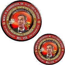 Bill Nye Scientist Guy Born Sagittarius Zodiac Wood Sheep Button Pin + Magnet