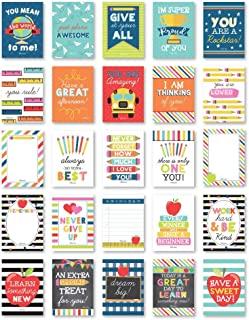 25 School Lunch Box Notes For Kids, Inspirational Motivational Cards For Boys Girls From Mom, Encouraging for Student Children Teens, Thinking of You Positive Affirmations Encouragement Lol Fun Love