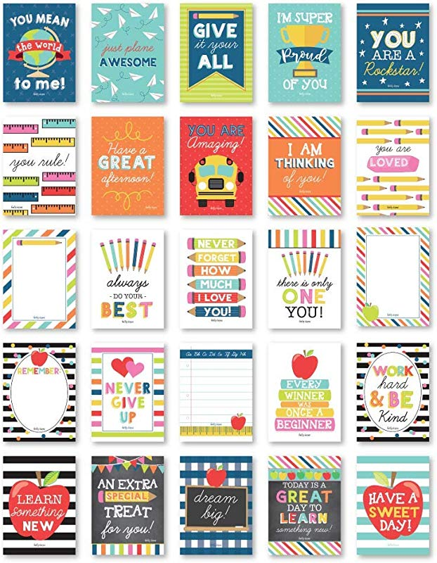 25 School Lunch Box Notes For Kids Inspirational Motivational Cards For Boys Girls From Mom Encouraging For Student Children Teens Thinking Of You Positive Affirmations Encouragement Lol Fun Love