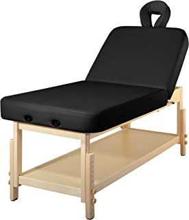 MT Harvey-Tilt Liftback Tilting Backrest Salon Stationary Massage Beauty Table(Black)
