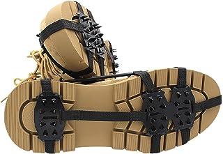 1 par crampons grepp kvinnor män 24-tänder anti-slip gripper boot spik vandring klättring cleats kedja sko,L