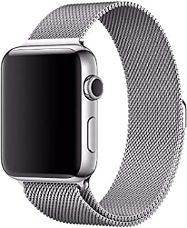 Stainless Steel Band Strap with Screen Protector for 42mm Apple Watch, Silver