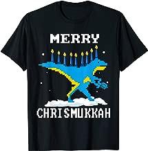 Cute Merry Chrismukkah menorasaurus Hanukkah Dinosaur REX T-Shirt