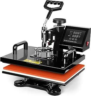 Heat Press 12X10 Inch-TUSY Heat Press Machine Digital Transfer Sublimation Heat Press Machine for T-Shirt
