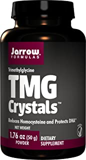 Jarrow Formulas TMG Crystals, Reduces Homocysteine and Protects DNA, 50grams (Pack of 2)