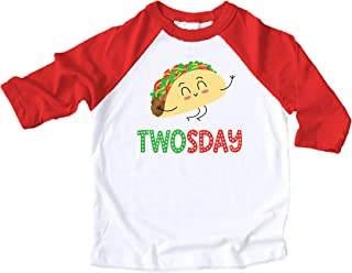 Taco Twosday Taco Shirt for Girls 2nd Birthday Fiesta Themed Birthday Outfit