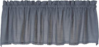 Connemara 72 Inches Wide x 14 Inches Long Linen and Polyester Valance Curtain, Blue