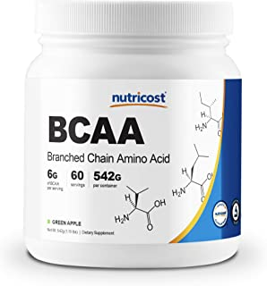 Nutricost BCAA Powder - 2:1:1 (Green Apple) - 60 Servings