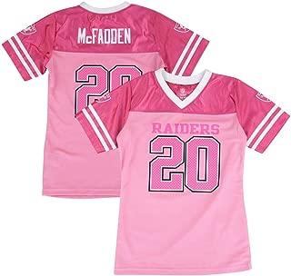 Outerstuff Darren McFadden NFL Oakland Raiders Fashion Pink Jersey Little Girls (4-6)