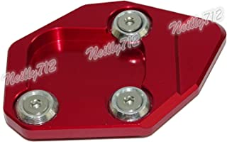 waase CBR600RR Motorcycle Kickstand Foot Side Stand Extension Pad Support Plate For Honda CBR 600 RR 2007 2008 2009 2010 2011 2012 2013 2014 2015 2016 (Red)